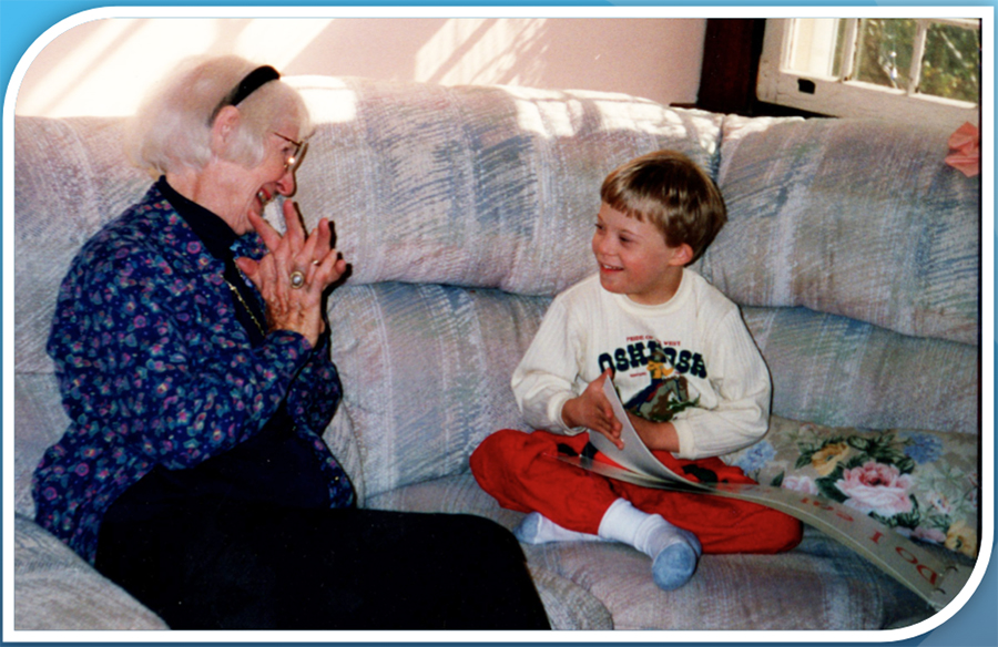 Jon reads to Grandma 6