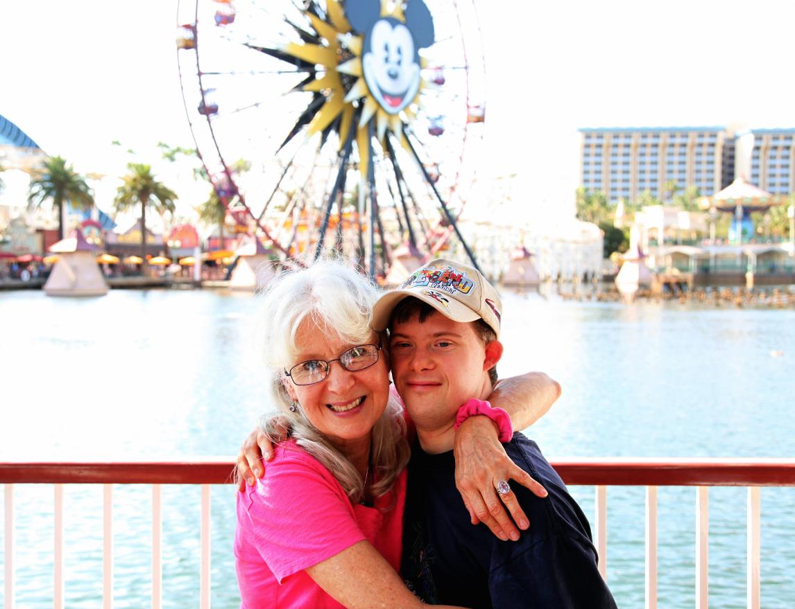 Jon & Mom Disney 2014-1
