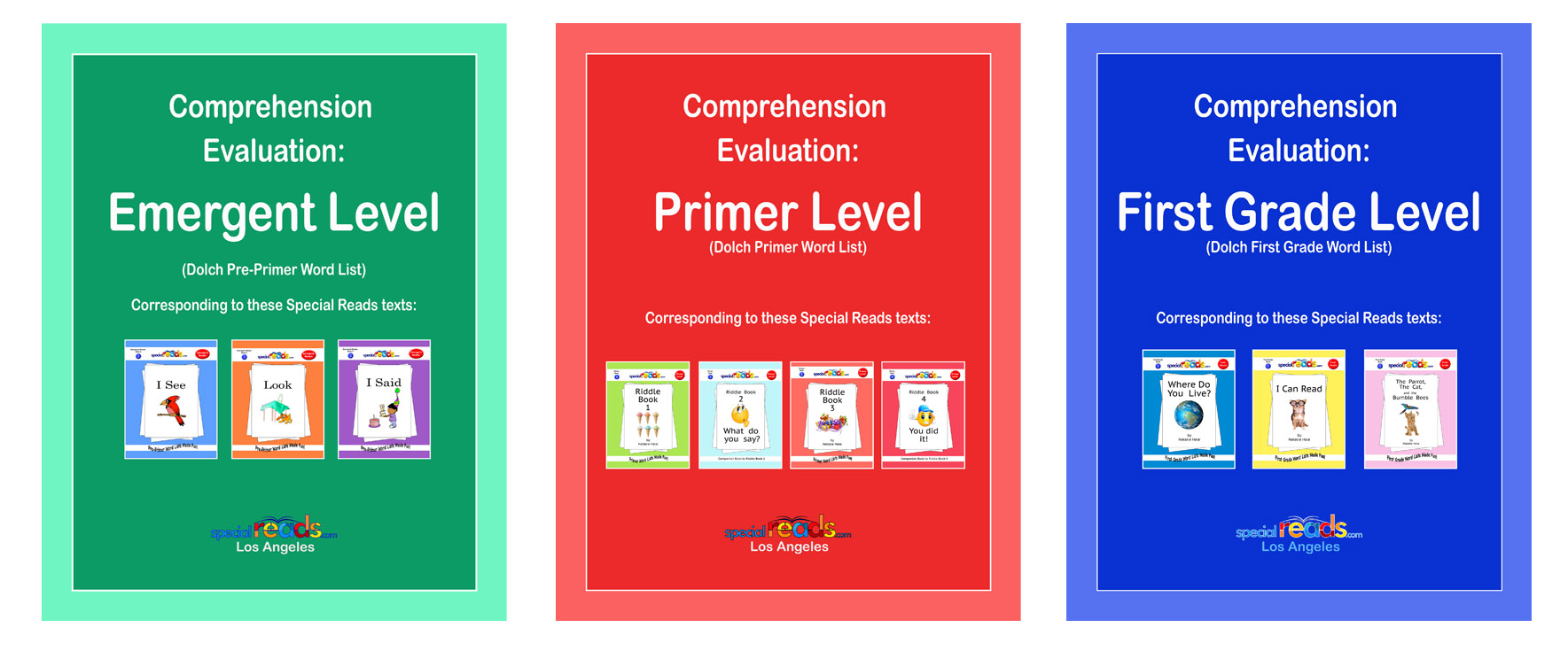 Comprehension Series Book Covers